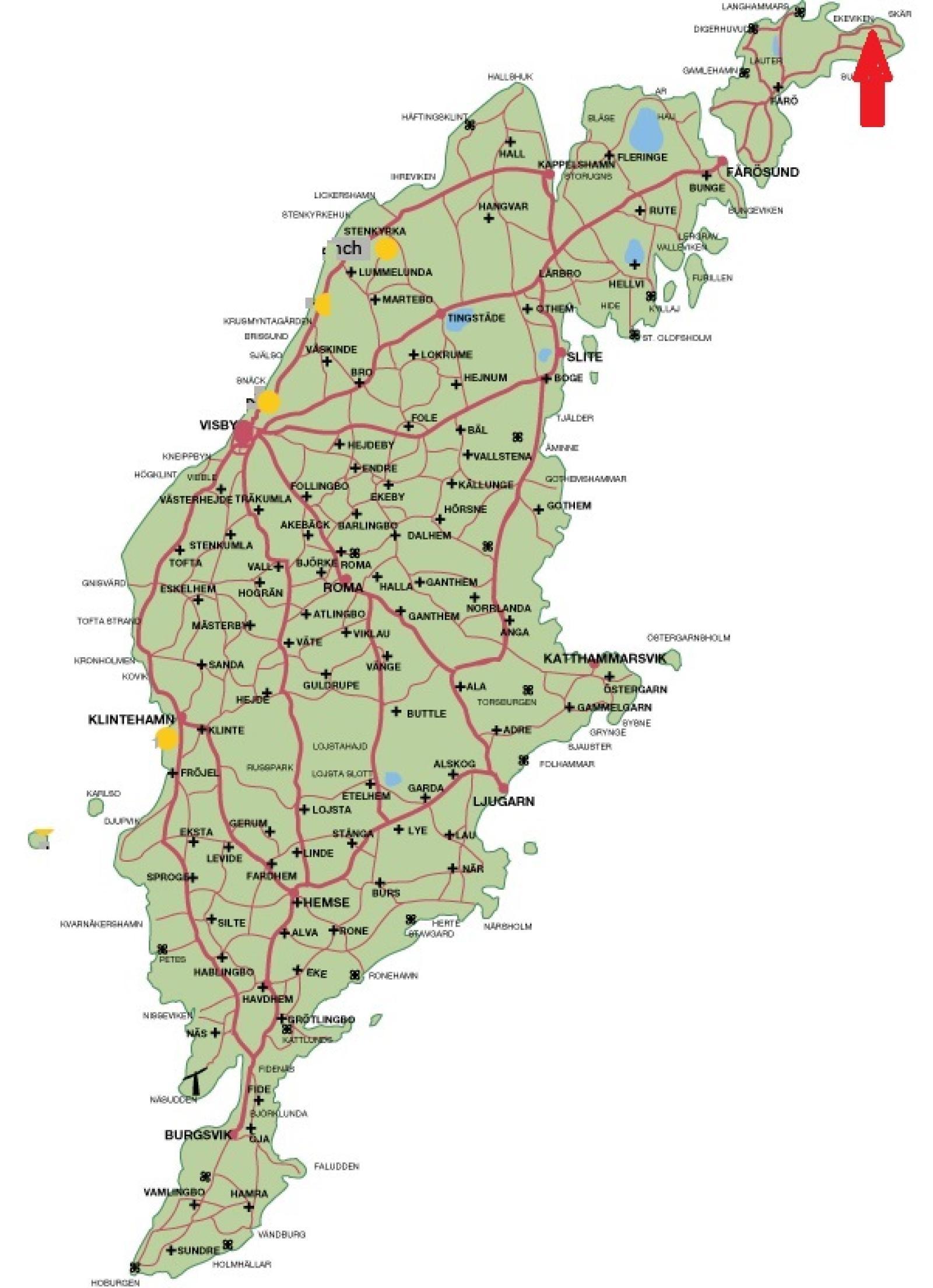 Karta Fårö Skär 1389b