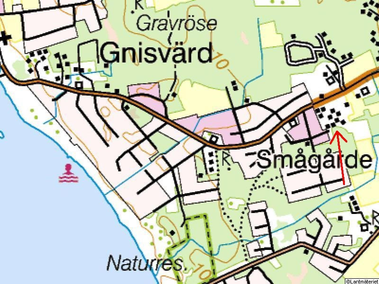 Terrängkarta Betaniavägen 15